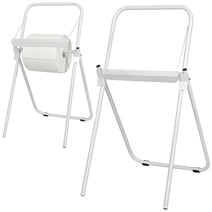 Cilli - Soporte a suelo para bobinas de toallas de papel industrial - Color blanco