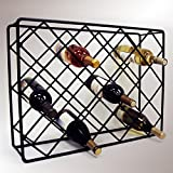 J&J Wire Rectangle Diamond Wine Rack
