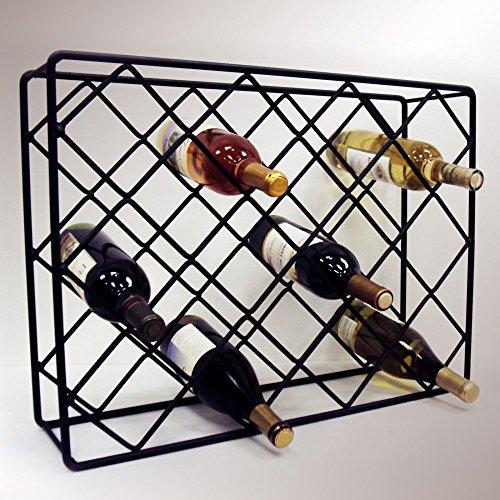 (J&J Wire Rectangle Diamond Wine Rack )