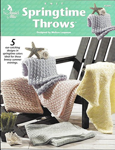 Springtime Throws - Knitting Patterns - Annie's Attic - Designed by Melissa Leapman - - Throw Springtime
