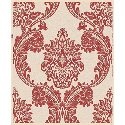 Graham & Brown 20-919 Regent Red Wallpaper, Deep Red