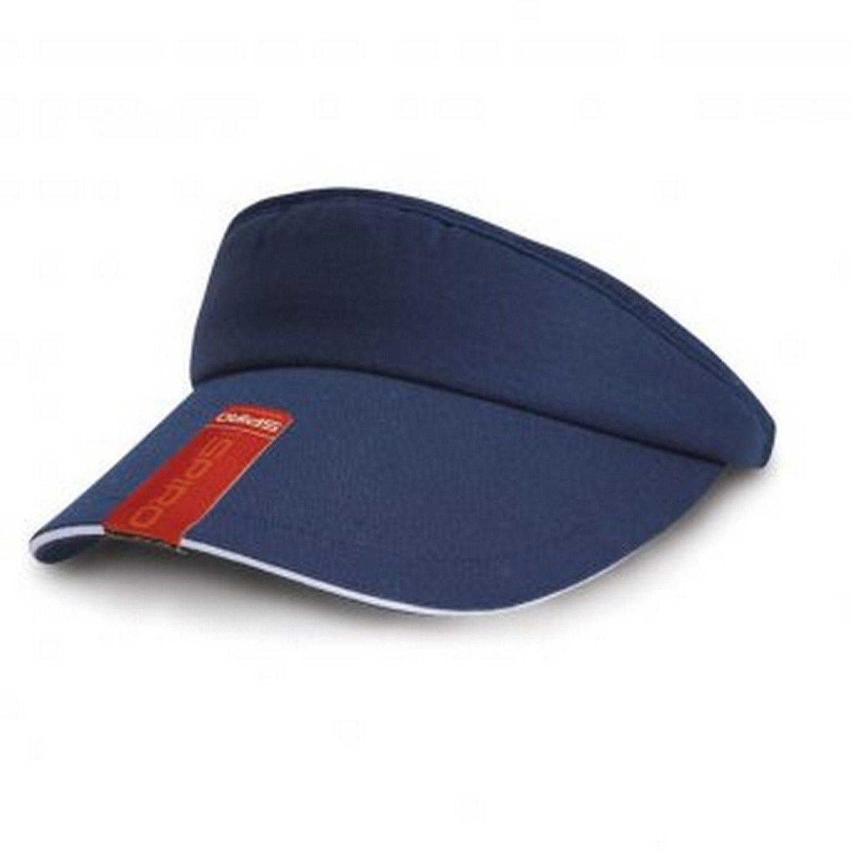 Result Headwear Unisex Herringbone Sun Visor UTPC2301_1