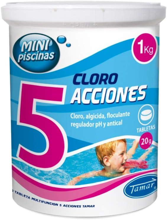 LOLAhome Cloro multifunción Especial Piscinas (1kg - Minitabletas 20gr 5 Funciones)