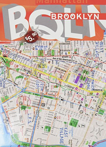 TerraMaps Brooklyn – Downtwon Manhattan Street Maps – Subway – Laminated