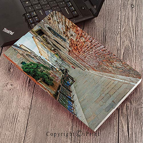 Samsung Tab S3 9.7 SM-T820 SM-T825 Tablet Case Protective Cover Crystal Case,Venice,Empty Idyllic Streets of Venezia Travel Destination Romantic Vacation Old ()