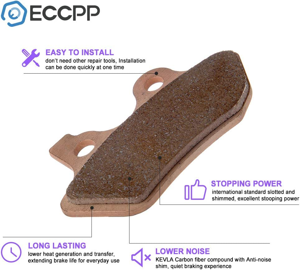 ECCPP FA400 Brake Pads Front and Rear Sintered Replacement Brake Pads Kits Fit for 2000 2001 2002 2003 2004 2005 2006 Harley-Davidson 992630-5211-1759221373