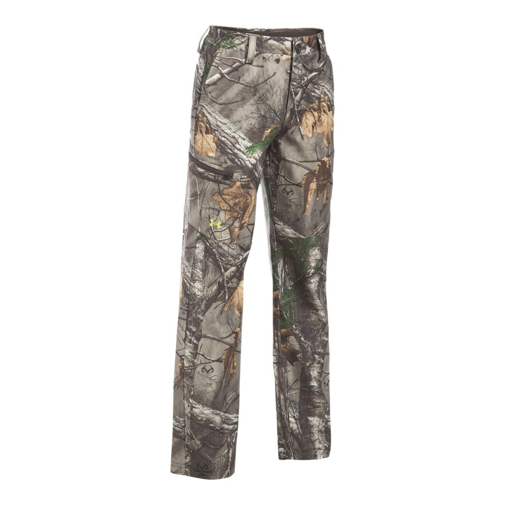 Under Armour Boys' Field Pants, Realtree Ap-Xtra (946)/Maverick Brown, 20 by Under Armour