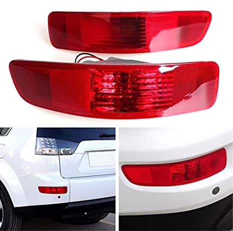 Fit for Mitsubishi Outlander Rear Tail Right Left Fog Light Lamp 2007-2012
