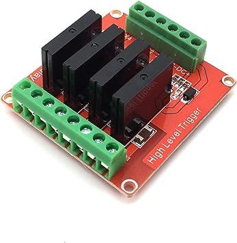 4 canaux 5 V SSR Solid State Relais Module avec fusible pour Arduino UNO Mega 2560 R3