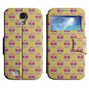 LEOCASE Colorful Skull Funda Carcasa Cuero Tapa Case Para Samsung Galaxy S4 I9500 No.1001846