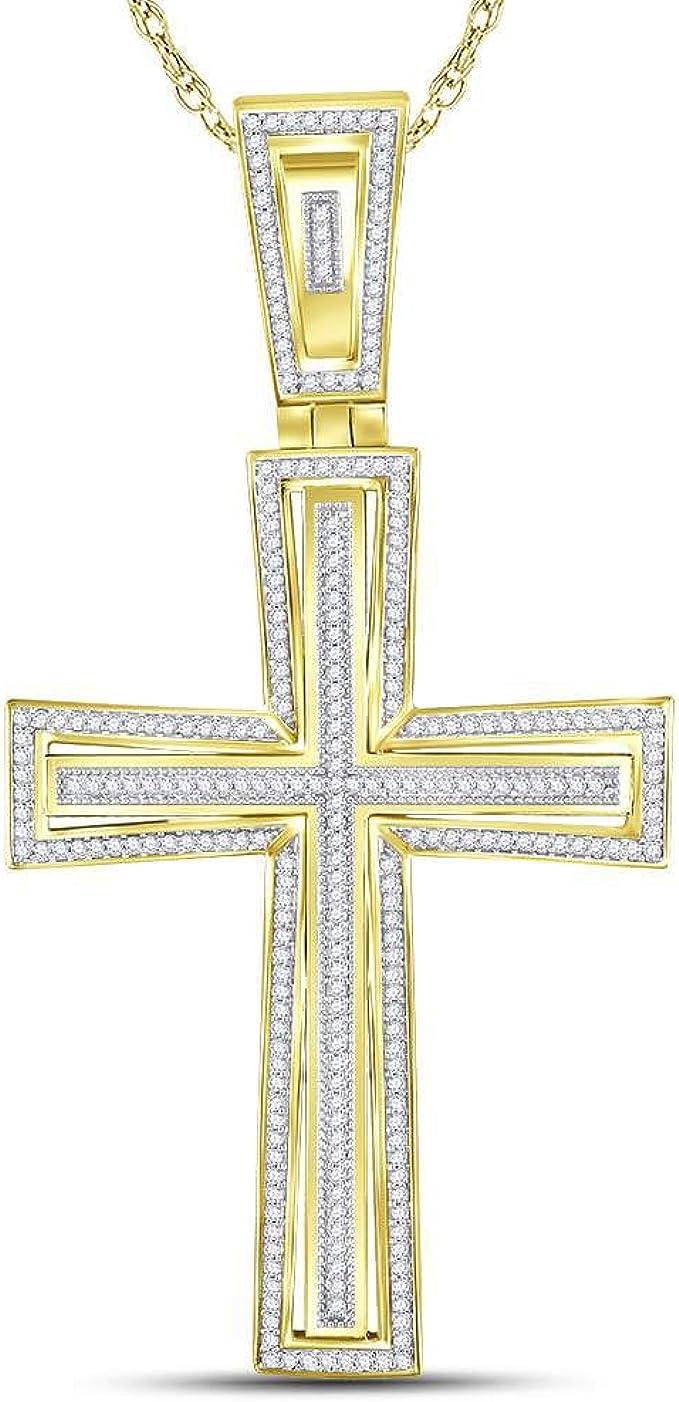 NEU Kreuz Anhänger 2-farbig bicolor echt Gold 375er 375 Gelbgold 9 Karat