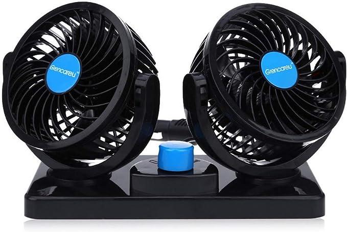 Ventilador Coche Doble 12v Electrico Ventilador para Auto con ...