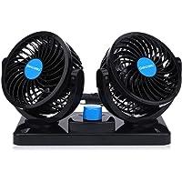 Ventilador Coche Doble 12v Electrico Ventilador para Auto