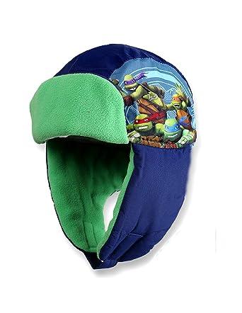 506ceba64b40 Tortues Ninja Bonnet - Chapka enfant garçon Bleu et Vert de 3 à 9ans - Bleu,  54 cm (6-8 ans)  Amazon.fr  Vêtements et accessoires