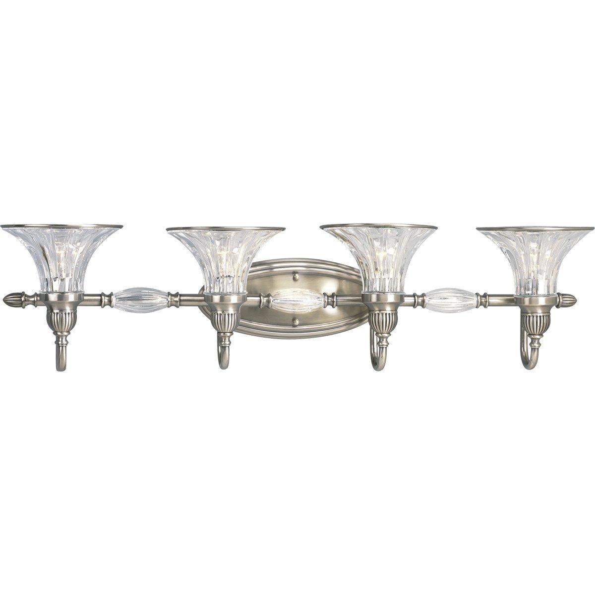 Progress Lighting P2728 101 4 Light Roxbury Bath Bracket, Classic Silver   Vanity  Lighting Fixtures   Amazon.com