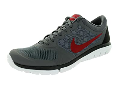 quality design 5073a d5c48 Image Unavailable. Image not available for. Color  Nike Men s Flex  Experience RN (Dark Grey Black White Gym Red)
