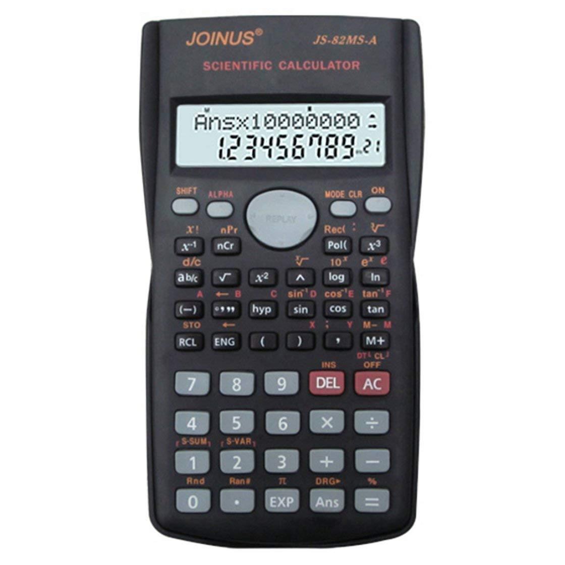 BlackPJenny Calcolatrice Multifunzionale a 2 Righe per Display LCD Calcolatrice di funzioni Portatile a 240 funzioni
