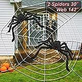 LUDILO 3PCS Halloween Spider Web Halloween Spider Decorations 142