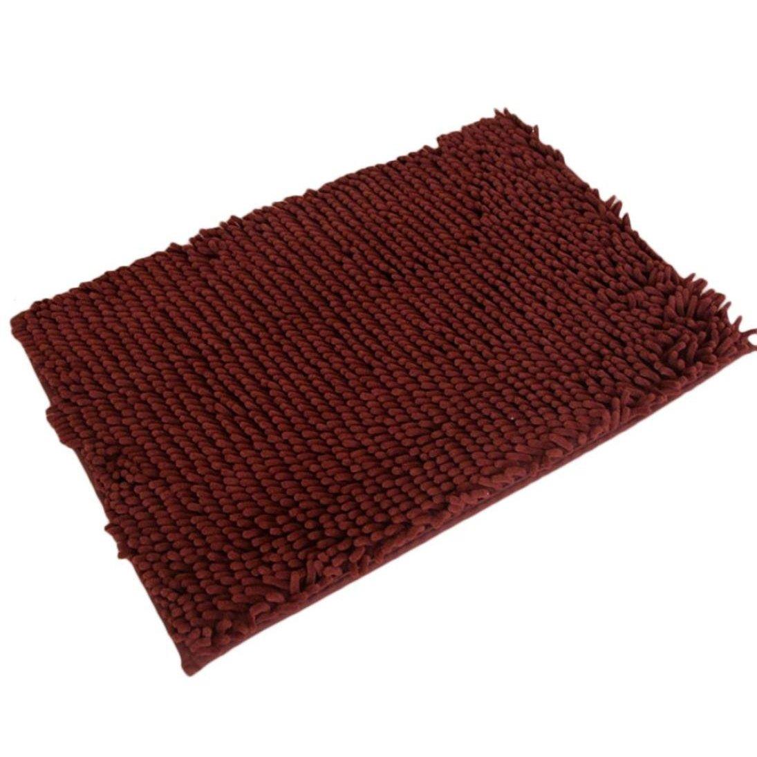 Alfombra de bano - TOOGOO(R)Soft Shaggy antideslizante absorbente Alfombra de bano Bano Ducha estera 40*60cm (cafe) TOOGOO (R)