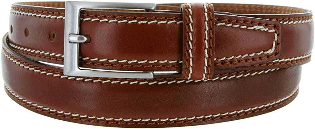 Made in Italy Oil-Tanned Italian Leather Dress BeltMultiple Colors Available