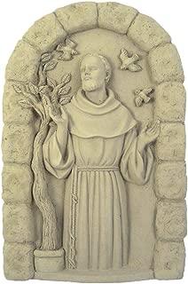 product image for Modern Artisans Saint Francis of Assisi Concrete Garden Plaque