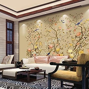 Huangyahui Mural Pajaros Papel Pintado Clasico Papel Pintado