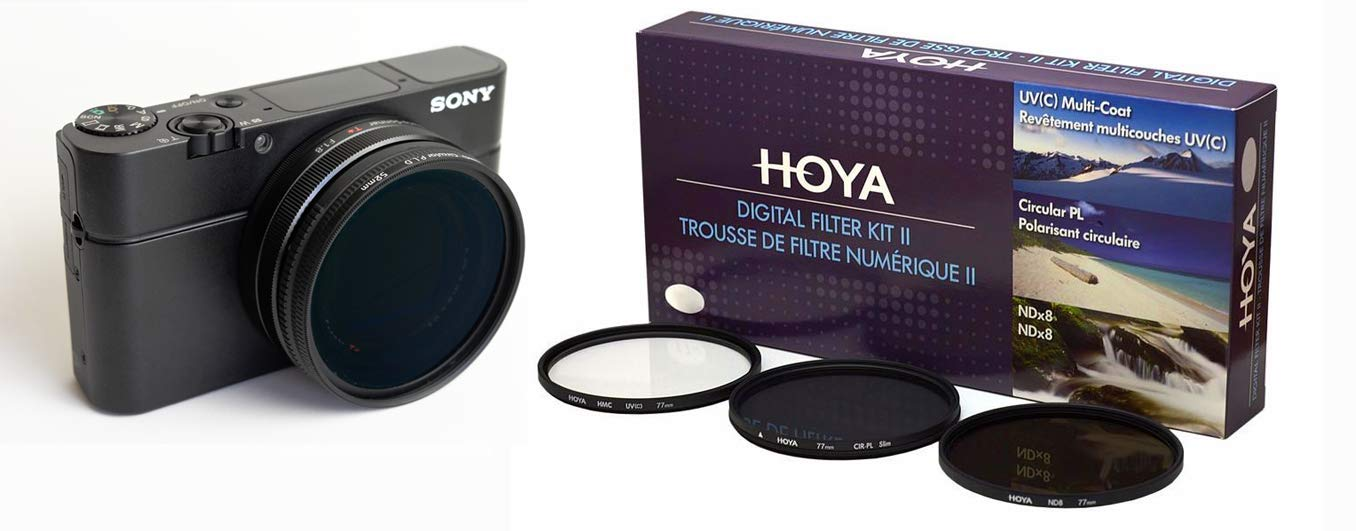 Lensmate Quick-Change Filter Adapter Kit for Sony RX100 VII or RX100 VI + Hoya 52mm 3-Piece Digital Filter Kit with Case by Lensmate