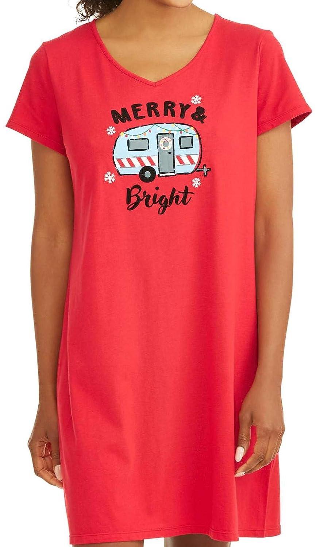 Secret Treasures Merry & Bright RV Happy Camper Sleep Nightgown
