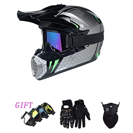 HXZM Adulto Fuera de Carretera Casco Dot Off-Road Motocross ...