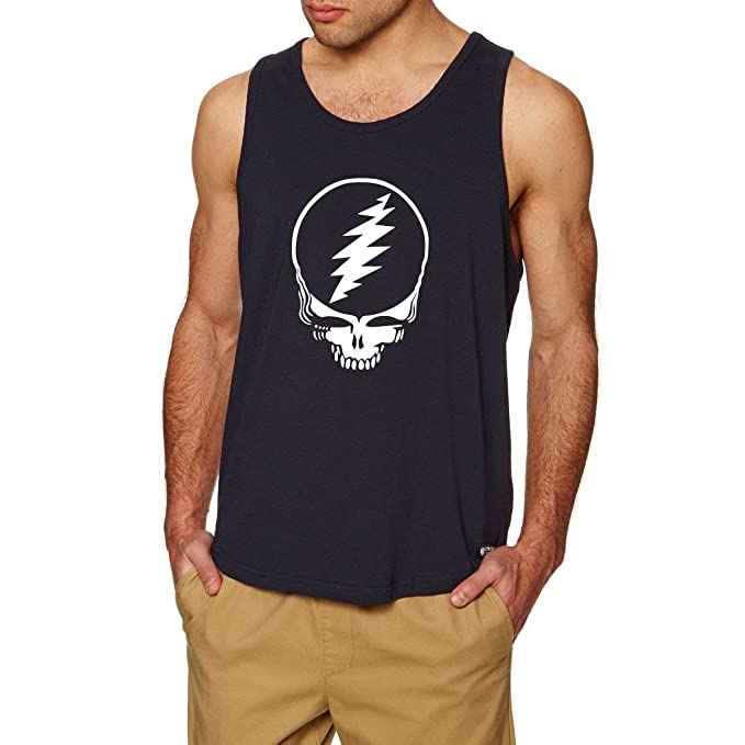 dd6b1266 Lexiu Yibai Grateful Dead Steal Your Face Skull Workout Fitness Casual Tank  Tops Men Shirts at Amazon Men's Clothing store: