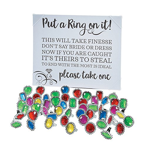 Put a Ring on It Bridal Shower Game with Rings]()