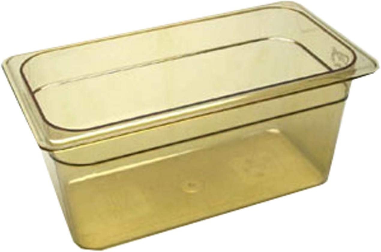 Cambro 36HP H-Pan Hot Food Pan, Third-Size, 5-5/8 Quart, Amber
