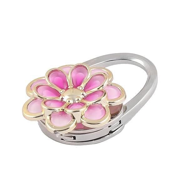 Amazon.com: eDealMax Patrón Floral Matal monedero de las Mujeres del bolso del gancho de la suspensión Titular Rosa Regalo: Home & Kitchen
