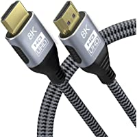 YIWENTEC 8K 5M 16.5ft HDMI2.1 2.0a 2.0b UHD 8K High Speed 48Gbps 8K @ 60Hz 4K @ 120Hz HDCP2.2 4:4 HDR 3D ARC HDMI 2.1 2…