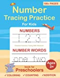 Number Tracing book for Preschoolers: Preschool Numbers Tracing Math Practice Workbook: Math Activity Book for Pre K…