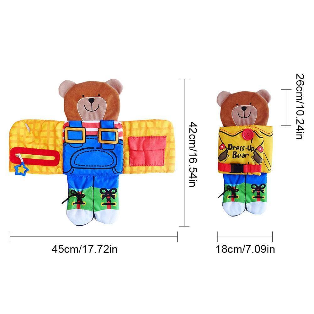 Baby Early Learning Dress-up Dolls Basic Life Skill Laccio di Merletto Libro di Bambola Giocattoli Zip Pizzo Puzzle per Bambini Bambini Ragazzi Ragazze Baby