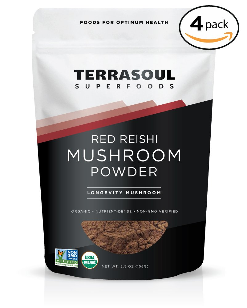 Terrasoul Superfoods Organic Reishi Mushroom Powder (4:1 Extract), 22 Ounces