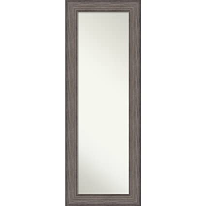Amanti Art On The Door Full Length Wall Mirror, Country Barnwood: Outer  Size 20