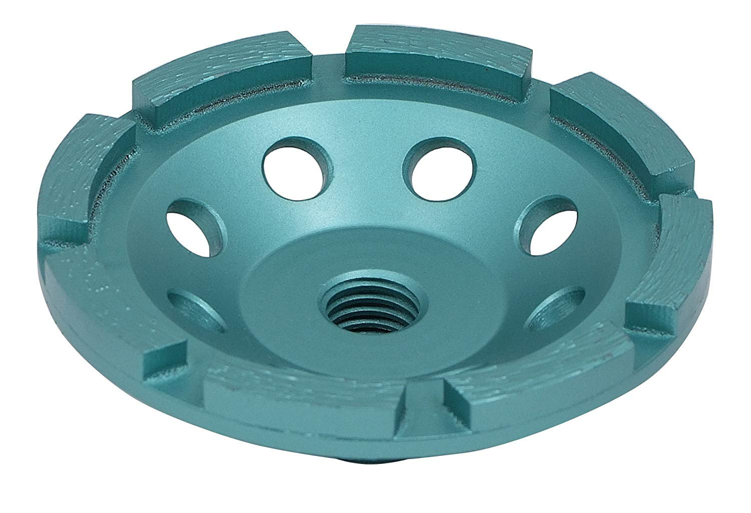 10-Pack Premium 4 Inch Diamond Cup Wheel for Grinding Concrete and Masonry, Single Row, 5/8''-11 Thread