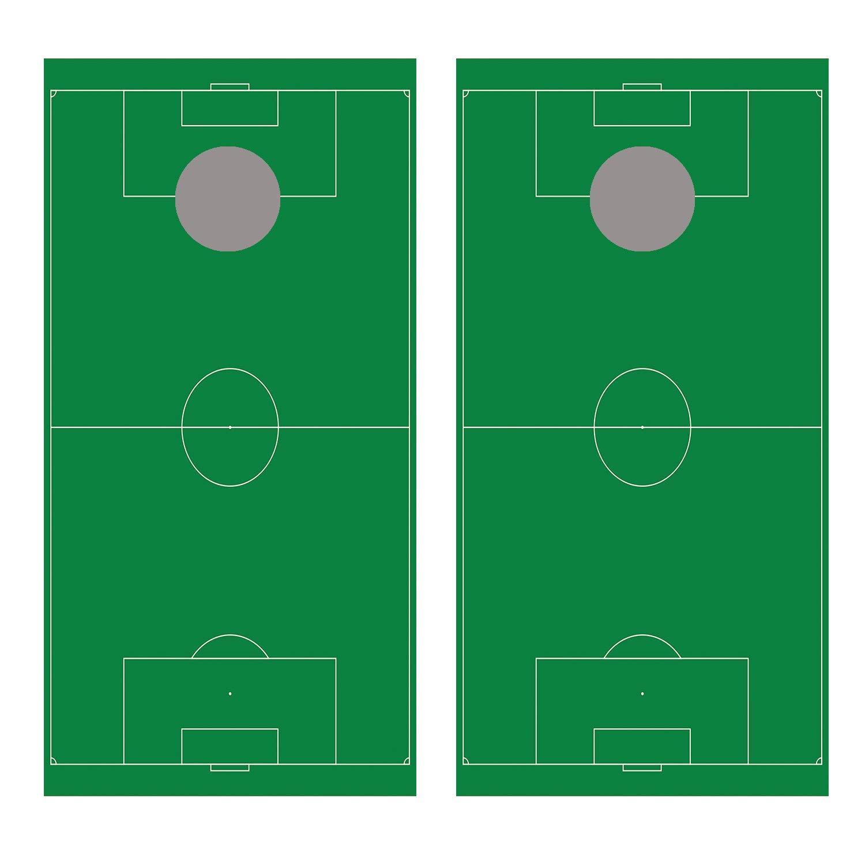 Let's Print ビッグサッカーフィールドコーンホールボードデカールラップ B07J518SGT