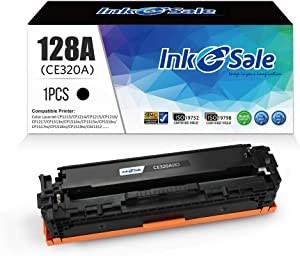 INK E-SALE Remanufactured Toner Cartridge Replacement for HP 128A CE320A Canon 116 Black for use with HP Color Laserjet CP1525n CP1525nw CM1415fn CM1415fnw,Canon MF8080cw Printer,1 Pack