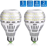 2 Pack Sansi A21 22W (250-200Watt Equivalent)Omni-directional Ceramic LED Light Bulbs