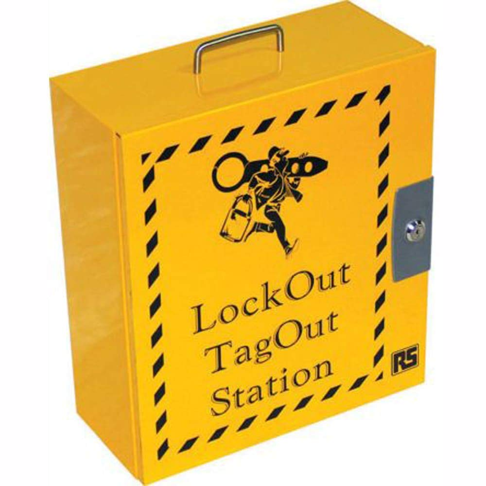 6 Padlock Lockout Station; 16 x 14 x 6in