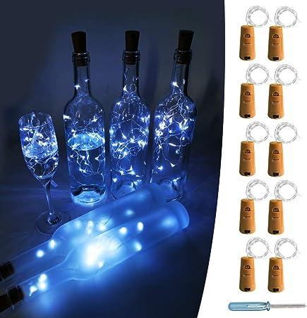 20 LED 2M Wine Bottle Cork Shaped String Lights Night Fairy Light Outdoor Xmas