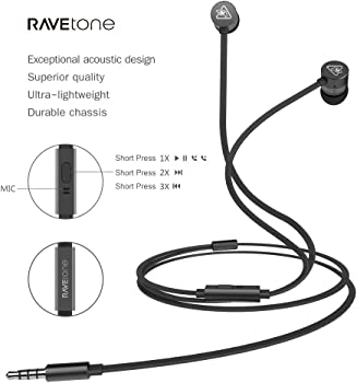 RAVEtone Bass Stereo In-Ear Headphones