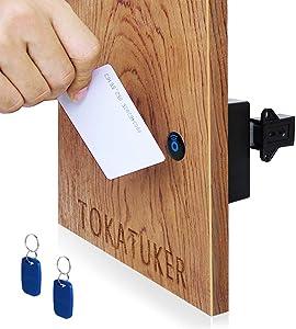 Tokatuker Electronic RFID Locker Cabinets Hidden DIY Lock - Electronic Cabinet Lock, RFID Card/Tag/Wristband Entry