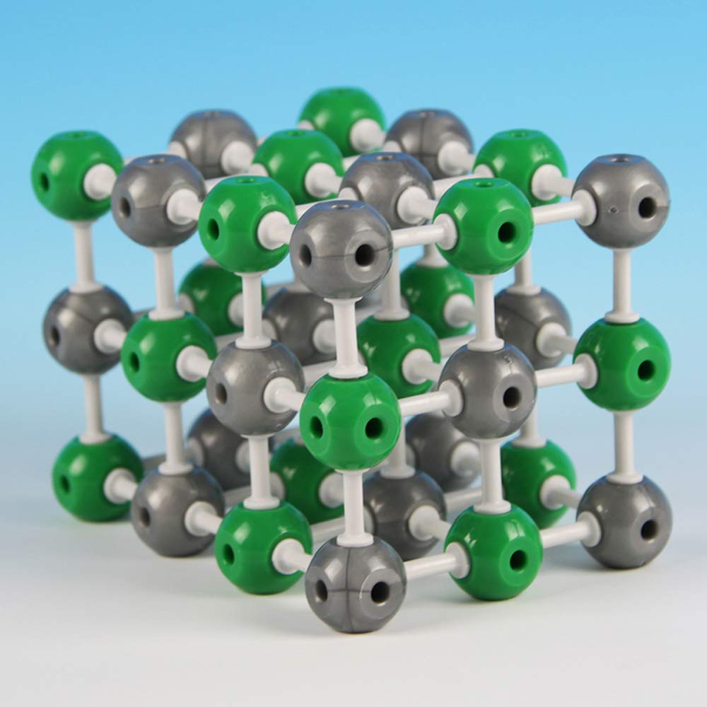 EASTCHEM Atom and Molecular Model Kit 1 Set, Education for Students and Kids, Nacl Crystal Model, 36 Atoms and 75 Bonds (Total 111 Pieces)