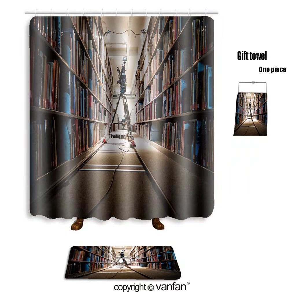 vanfan bath sets with Polyester rugs and shower curtain in the middle of shooting a scene for a stude shower curtains sets bathroom 54 x 78 inches&23.6 x 15.7 inches(Free 1 towel and 12 hooks)