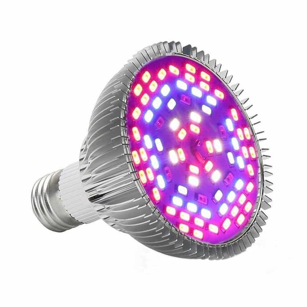 KOBWA LED Plant Grow Light Bulb, Full Spectrum 50W E27 LED Grow Lights Lamp For Indoor Plants, Hydropoics and Garden Greenhouse
