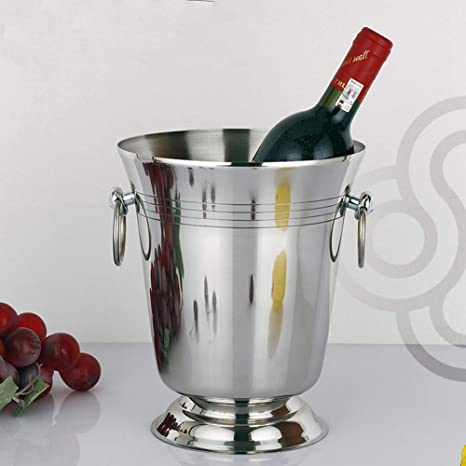 Amazon.com: Large Ice Bucket, Stainless Steel Wine Chiller ...
